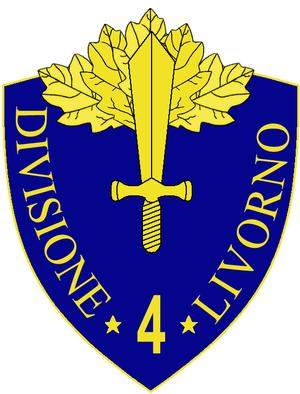 4th Infantry Division Livorno - 4th Infantry Division Livorno Insignia