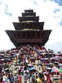 5 storey Temple of BKT @ gai jatra.jpg