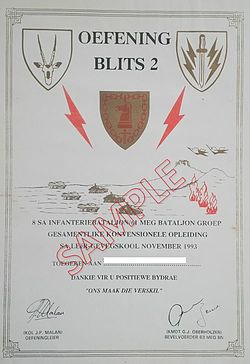 63 Mech exercise certificate