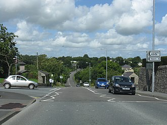 A5025 road - The A5025 at Pentraeth