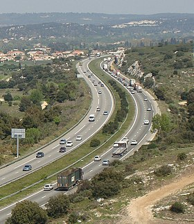 Image illustrative de l'article Autoroute A55 (France)