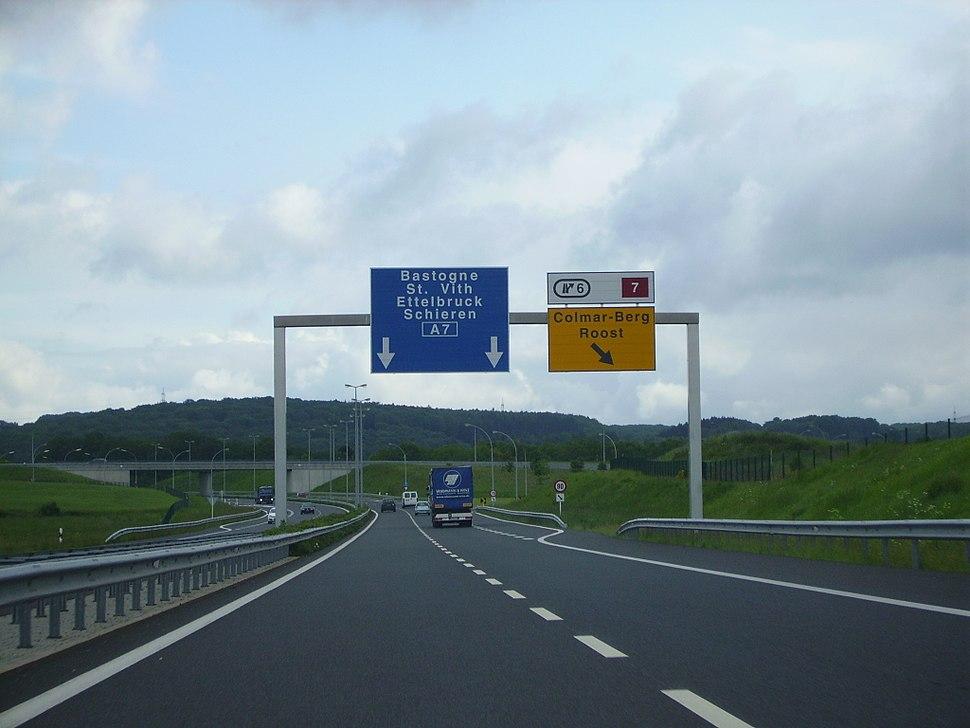 A7 between Luxembourg and Ettelbrück