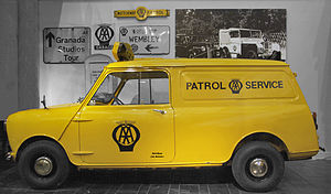 The Automobile Association - Automobile Association roadside assistance BMC Minivan