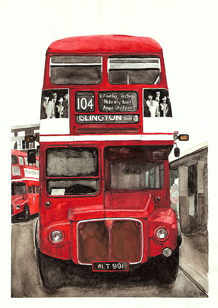 File:AEC Routemaster Finchley Central watercolour.jpg