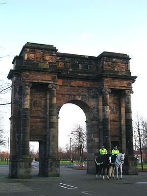 Glasgow Green - McLennan Arch, found at the north-west entrance to Glasgow Green.