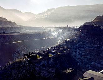Asarco - ASARCO mine near Garfield, Utah in 1942.