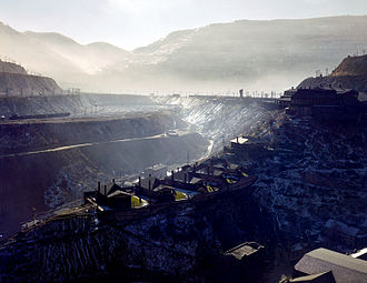 Guggenheim family - An ASARCO mine near Garfield, Utah