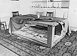 A Morrison shelter set up in a diningroom, 1941. D2053.jpg