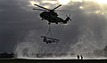 A Royal Air Force Merlin Helicopter Creates a Downwash During Lifting Trials MOD 45153602.jpg