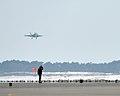 A U.S. Navy EA-18G Growler aircraft attached to Electronic Attack Squadron (VAQ) 132 lands at Naval Air Facility Misawa, Japan, Feb. 27, 2014 140227-N-DP652-006.jpg