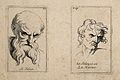 A bearded man glowering with jealousy (left) and a man expre Wellcome V0009386.jpg