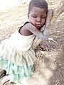 A beautiful little African village child sleeping and who also need care.jpg
