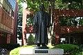 A bronze statue of Yamanashi Gakuin University founder Shinichi Furuya.JPG