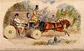 A doctor changing into hunting clothes in his carriage, on h Wellcome V0011617.jpg