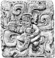 A glimpse of Guatemala - A Sculptured Slab from the Western Court.png