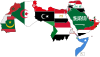 A map of the Arab World with flags.svg