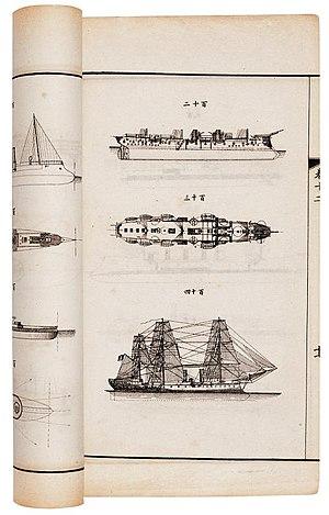 Xu Jingcheng - A page from Encyclopedia of Foreign Ships by Xu Jingcheng
