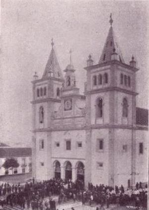 Roman Catholic Diocese of Angra - The Sé Cathedral as it appeared in 1903