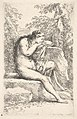 A semi-nude woman seated resting her head on a rock, from the series 'Figurine' MET DP832606.jpg