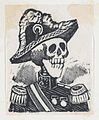 A skeleton dressed as a military figure (vignette for the feast of the dead) MET DP867972.jpg