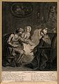 A surgeon discussing a pending operation with a couple. Engr Wellcome V0016702.jpg