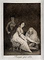 A young woman helping another with her toilet while an old w Wellcome V0025827.jpg