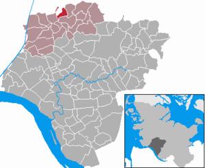 Aasbüttel - Image: Aasbuettel in IZ