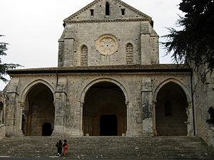 Casamari Abbey - Façade of the abbey church.