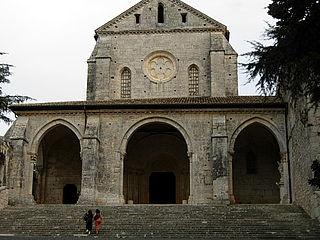 Casamari Abbey church building in Veroli, Italy