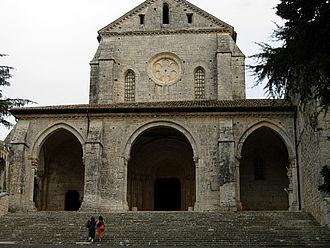 Casamari Abbey - Façade of the abbey church.