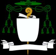 Insígnias abaciais para o brasão darmas de um Abade Territorial
