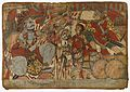 Abhimanyu Shatters Boulder Held by Ghatotkacha, Scene from the Story of the Marriage of Abhimanyu and Vatsala, Folio from a Mahabharata ((War of the) Great Bharatas) LACMA M.82.225.4.jpg
