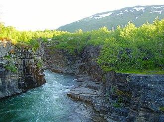 Abisko National Park - Image: Abiskojåkka