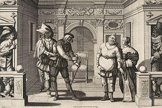 Hôtel de Bourgogne (theatre) - Image: Abraham Bosse, Actors at the Hotel de Bourgogne 2, ca. 1633–34