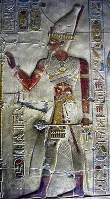 Image of Seti I from his temple in ابیدوس