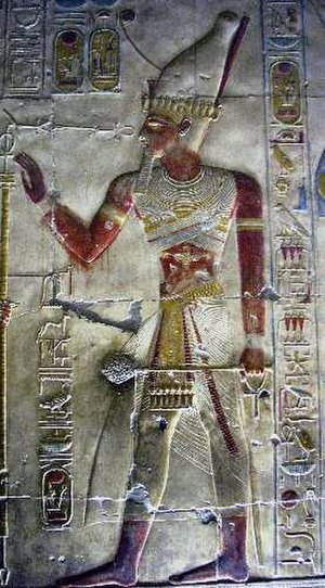 Seti I - Image of Seti I from his temple in Abydos