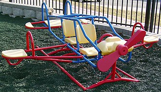 Seesaw - Seesaws are manufactured in creative shapes and designs