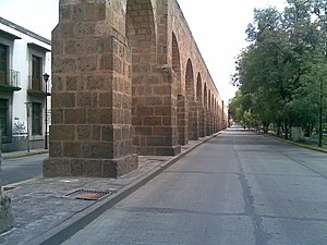 Acueducto de Morelia Michoacán