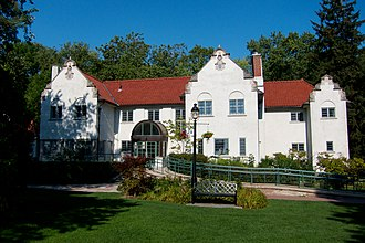 Agar Adamson - Adamson Estate in Lakeview, Ontario. Adamson designed and built the Belgian-style mansion  in 1919