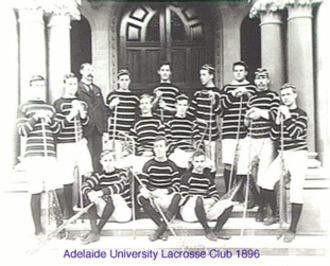 Lacrosse in Australia - Adelaide University Lacrosse Club. 1896 premiership team