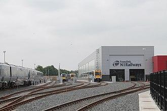 Adelaide railway station (Northern Ireland) - Image: Adelaide depot 2