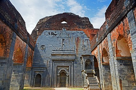 Ruins of Adina Mosque, the largest mosque in the Indian subcontinent, in Pandua, the first capital of the Bengal Sultanate. Adina Mosque at Malda district of West Bengal 07.jpg