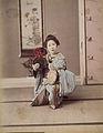 Adolfo Farsari (attributed) - Dancing Girl Playing Tsudzumi.jpg