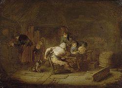 Adriaen van Ostade: Tavern Interior with Peasants