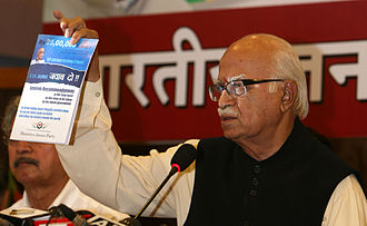 L. K. Advani - Advani discussing black money in a rally during the election campaign of 2009.