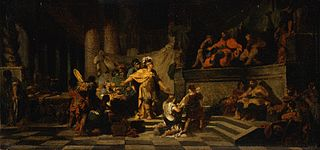 Aeneas Offering Presents to King Latinus and Asking Him for the Hand of His Daughter