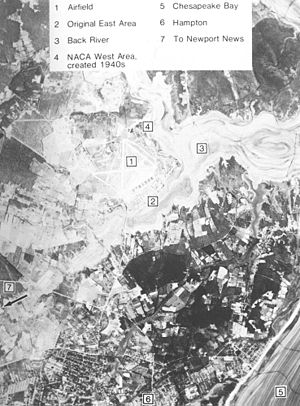 Back River (Virginia) - Aerial View of Back River, Virginia in the 1950s.