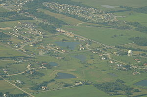 Baldwin City, Kansas - Aerial View of Baldwin City