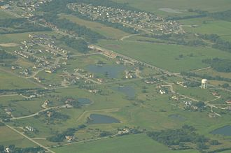 Baldwin City, Kansas - Aerial View of Baldwin City
