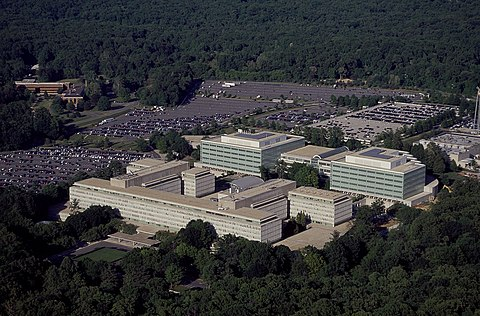 Aerial view of CIA headquarters in Langley Virginia, From WikimediaPhotos